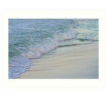 Foamy Shore Art Print