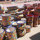 Colorful ceramics from Mexico 3 by nealbarnett