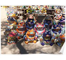 Colorful ceramics from Mexico 4 Poster