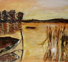 Boat and reeds by olivia-art