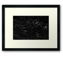Ancient names fragments - Jewish cemetery in Raciborz Framed Print