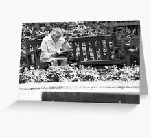 Peace in the park Greeting Card