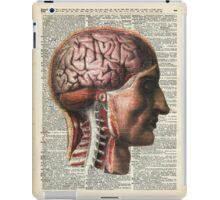 Human Brain Medical Chart Illustration,Vintage Dictionary Art  iPad Case/Skin
