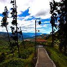 View of Giron Valley from Portete, Ecuador by Al Bourassa