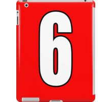 Football, Soccer, 6, Six, Sixth, Number Six, Sport, Team, Number, Red, Devils iPad Case/Skin