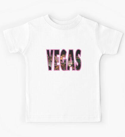 Las Vegas - Pink Kids Tee
