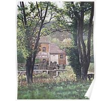 Bournemouth Throop flour mill through trees Poster