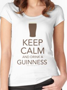 Keep Calm and Drink a Guinness Women's Fitted Scoop T-Shirt