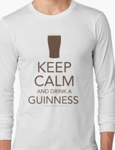 Keep Calm and Drink a Guinness Long Sleeve T-Shirt