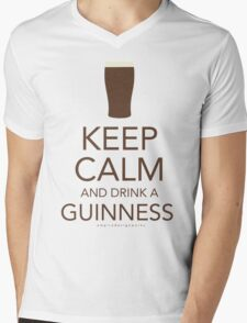 Keep Calm and Drink a Guinness Mens V-Neck T-Shirt
