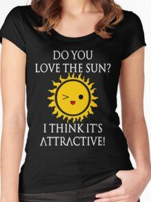 Sun Puns - Attractive Sun Women's Fitted Scoop T-Shirt