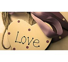 Love Heart On A Ribbon & Twine 2 Photographic Print