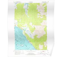USGS Topo Map Washington Chinook 240497 1949 24000 Poster