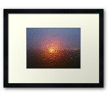 Sunset through rain - joy through tears Framed Print
