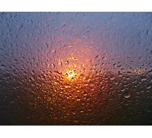Sunset through rain - joy through tears Photographic Print