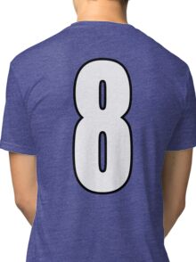 Football, Soccer, 8, Eight, Eighth, Number Eight, Sport, Team, Number, Red, Devils Tri-blend T-Shirt