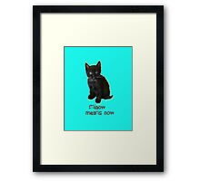 Miaow Means NOW Framed Print
