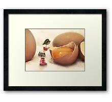 Mila and the Giant Egg Framed Print