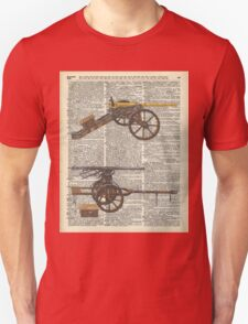 Old military cannons over dictionary book page T-Shirt
