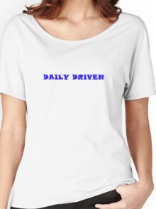 Daily Driven - Blue Women's Relaxed Fit T-Shirt