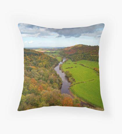 Autumn View from Symonds Yat Rock, England Throw Pillow