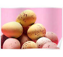 Pastel easter eggs Poster