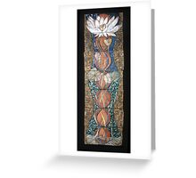 Lotus III: caduceus rising Greeting Card