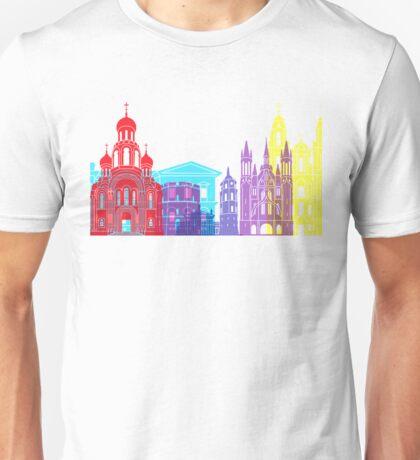 Vilnius skyline pop Unisex T-Shirt