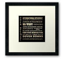 Dover Delaware Famous Landmarks Framed Print