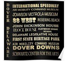 Dover Delaware Famous Landmarks Poster