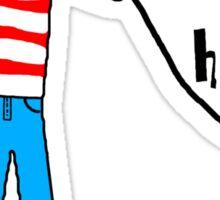 Wally's Here Sticker
