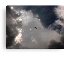 Through the Storm Dragon Canvas Print