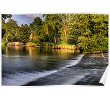 Canford weir Poster