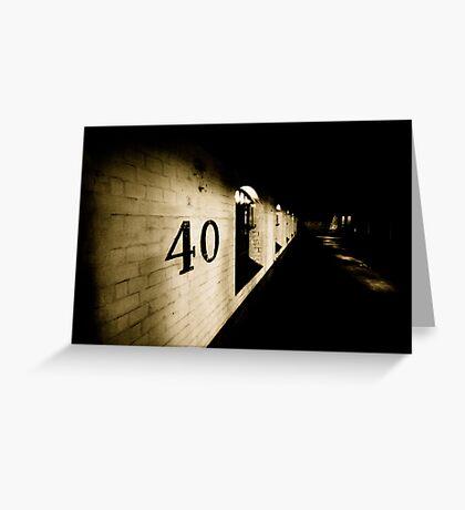 40 Greeting Card