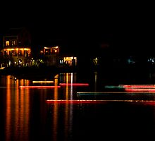 Hoi An: Moon Festival Lines of Light by Kasia-D
