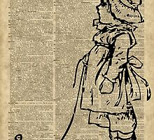 Victorian Child on a Dictionary Page by DictionaryArt