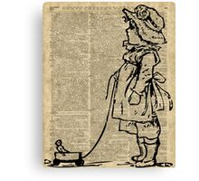 Victorian Child on a Dictionary Page Canvas Print