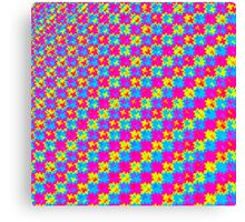 Crazy Psychedelic Pattern Canvas Print