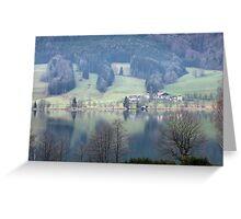 lake in austria Greeting Card
