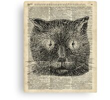 Vintage Steampunk Clock-eyed Cat  Canvas Print