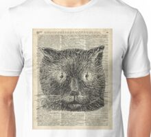 Vintage Steampunk Clock-eyed Cat  Unisex T-Shirt