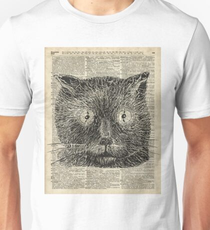 Vintage Steampunk Clock-eyed Cat  Unisex T-Shirt