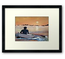 Coming in to shore Framed Print