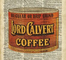 Vintage Coffee on Dictionary page by DictionaryArt