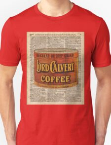 Vintage Coffee on Dictionary page T-Shirt