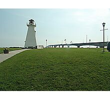 Lighthouse at Confederation Bridge Photographic Print