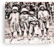 Civil War Slave Children Canvas Print