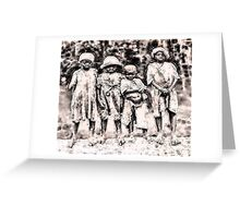 Civil War Slave Children Greeting Card