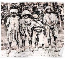 Civil War Slave Children Poster