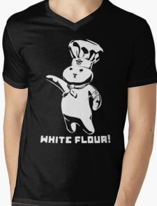 Doughboy White Flour Funny Mens V-Neck T-Shirt